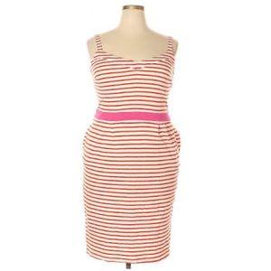 Boden Pink & White Stripe Sleeveless Summer Dress